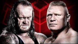 the undertaker vs brock lesner hell in cell 2015 highlights