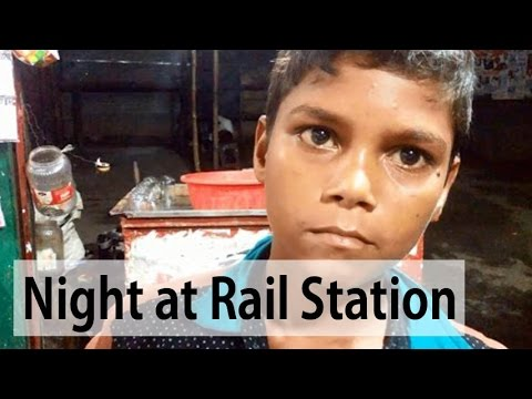 A Night at A Railway Station in Bangladesh