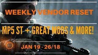 The Division - Weekly Vendor Reset Jan 19 - 26/18
