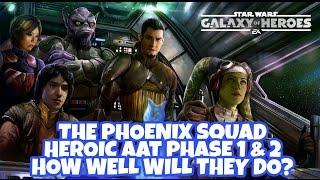 Star Wars Galaxy Of Heroes Phoenix Squad HAAT Phase 1 & 2