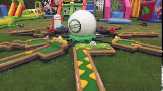 Inflatable 9 Hole Crazy Golf Course