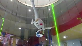 Six-year-old Chinese athlete captures two medals at indoor skydiving competitions