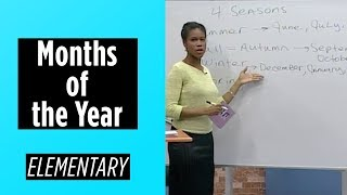 Elementary Level – Months of the Year | English For You