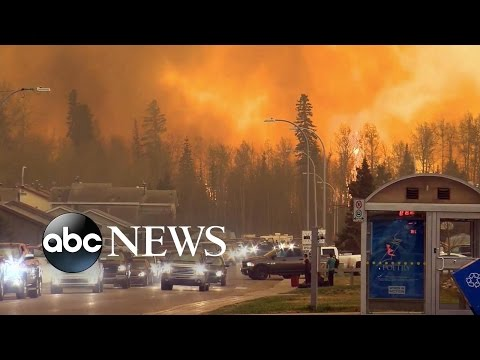 Fire Ravages City of Fort McMurray Alberta