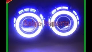 HID Projetor Bi-Xenon c/ Duplo Angel Eyes Branco