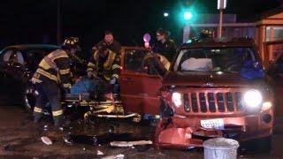 'I'm Drunk Bro': Crazy Video Shows Driver Crash into Woman's Car