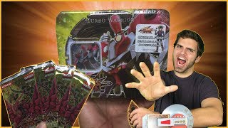 GODLY YuGiOh 2008 5D's Turbo Warrior Tin Opening! OH BABY!! | 1st Edition Crossroads of CHAOS