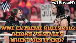WWE Extreme Rules 2016: Roman Reigns vs AJ Styles - Will It End After WWE Extreme Rules?
