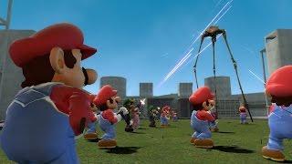 Gmod SUPER MARIO BROS. NPCS! - Mario, Luigi & Peach! (Garry's Mod)