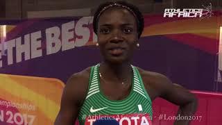 Oluwatobiloba Amusan (Nigeria) 100m Hurdles - London 2017 IAAF World Championships