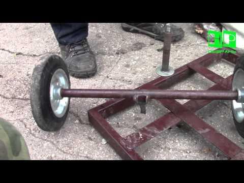 Тележка для колес своими руками