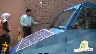 ساخت یک موترآفتابی توسط یک جوان افغان که با نورآفتاب حرکت میکند