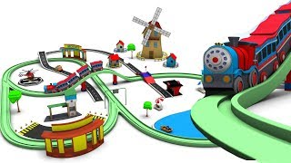 Toy Train Cartoon for Kids - Trains for children - Choo train cartoons - Toy Factory
