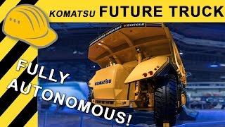 KOMATSU Autonomous Mining Truck Prototype Walkaround MINExpo 2016  4K