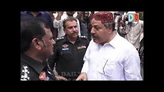 Hyderabad police arrested Chairman Jeay Sindh Mahaz RIAZ CHANDIO outside press club