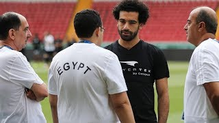 استعدادات محمد صلاح مع المنتخب المصري في روسيا