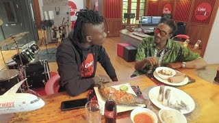 Download Stonebwoy tastes ketfo and injera for the first time, watch his reaction 3Gp Mp4