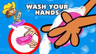 Kids Song WASH YOUR HANDS funny animated children