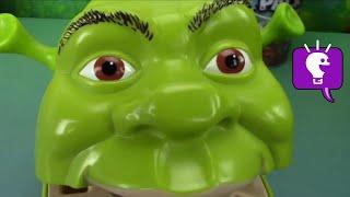 Shrek ROTTEN Surprise Teeth Toys! Play-Doh Joker Egg + Batman and Laugh Factory Fun HobbyKidsTV