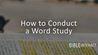 Using an Interlinear Bible
