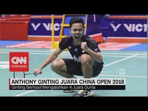 Bangga! Kalahkah 4 Juara Dunia, Anthony Ginting Juara China Open 2018