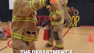 High energy firefighters deliver entertaining fire prevention presentation    complete with music pa
