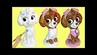 Do-It-Yourself SKYE Paw Patrol Bank, DIY Painting Coloring Craft for Kids Toy Activity / TUYC