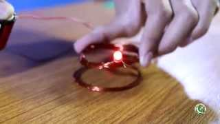 Make your own simple wireless power transmission project (Urdu)  with English subtitle