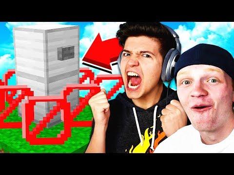 THE BEST HIDING SPOT Minecraft HIDE THE BUTTON UnspeakableGaming vs PrestonPlayz
