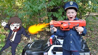 Halloween Zombies in the woods silly kids video with spooky Sketchy Mechanic