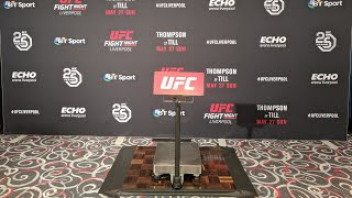 UFC Fight Night Liverpool Thompson vs Till Official Weigh In