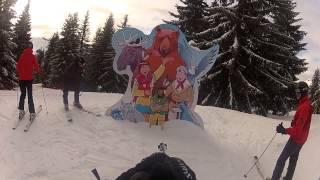 Ski-ing the Indian Run Les Gets