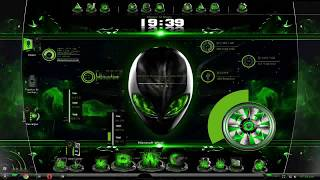 Tema Alien Green Para Windows 7  Full + iconos + Programas