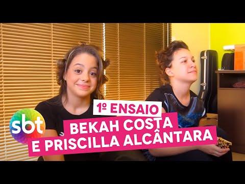 1º ENSAIO Bekah Costa e Priscilla Alcântara sbt