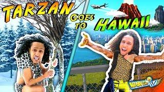 TARZAN goes to HAWAII! 1st time in Snow!    KIDD in Me TV