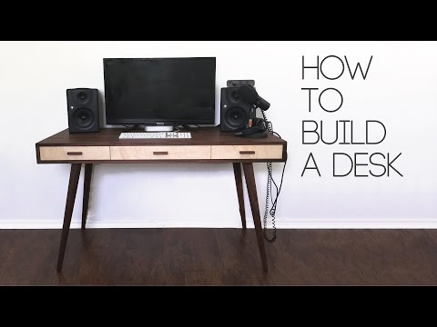 DIY Mid Century Modern Desk How To Modern Builds EP. 61