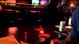 drunk lady teaching kung fu at bar