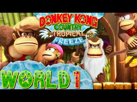 Donkey Kong Country Tropical Freeze World 1 Co op