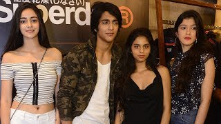 Suhana Khan parties with Chunky Pandey