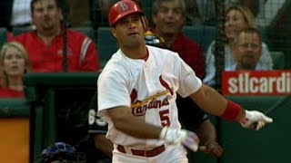 Pujols homers twice against Dodgers