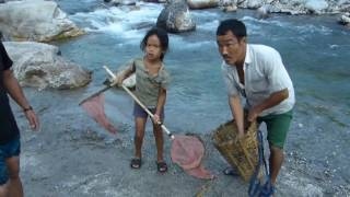 Fishing with Electricity of Lepcha community in Kalimpong, West Bengal