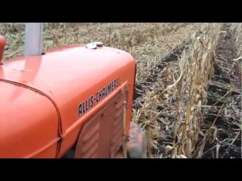 Allis Chalmers WD with mounted corn picker