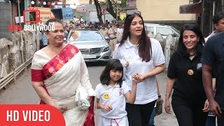 Aishwarya Rai Bachchan With Daughter Aaradhya At Shushrusha Hospital