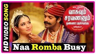 VSOP Tamil Movie   Songs   Naa Romba Busy Song   Tamanna proposes Arya   Swaminathan cancels wedding