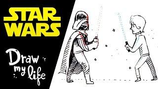 STAR WARS, LA HISTORIA EN DIBUJOS - Draw My Life (Español)