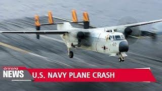 Three still missing after U.S. Navy plane crash off Japan