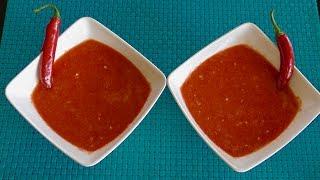 Afghan Chutney Recipe - Chilli Chutney - Hot Chilli Chutney - Red hot Chilli Sauce