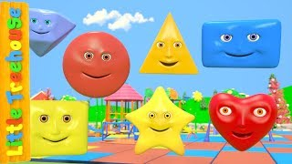 Learn Shapes | Videos For Kids | Kindergarten Nursery Rhymes For Babies by Little Treehouse