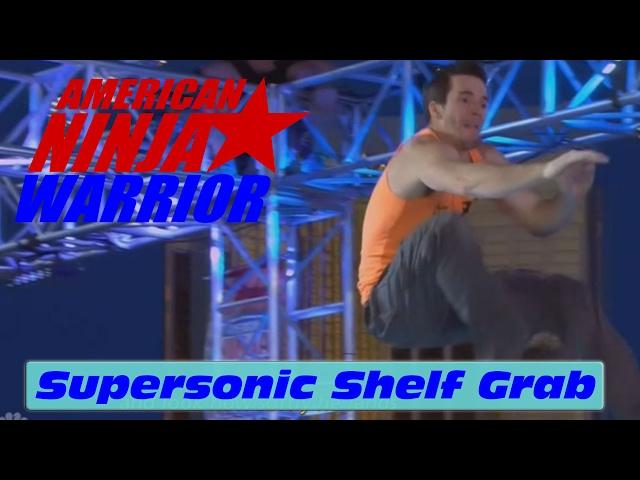 Crazy 15' Supersonic Shelf Grab - American Ninja Warrior 2017 All Star Special