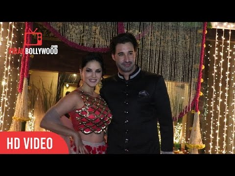 Sunny Leone And Daniel Weber At Aamir Khan's Diwali Party Celebration